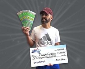 Arizona Lottery Winner Ralph Cantelope