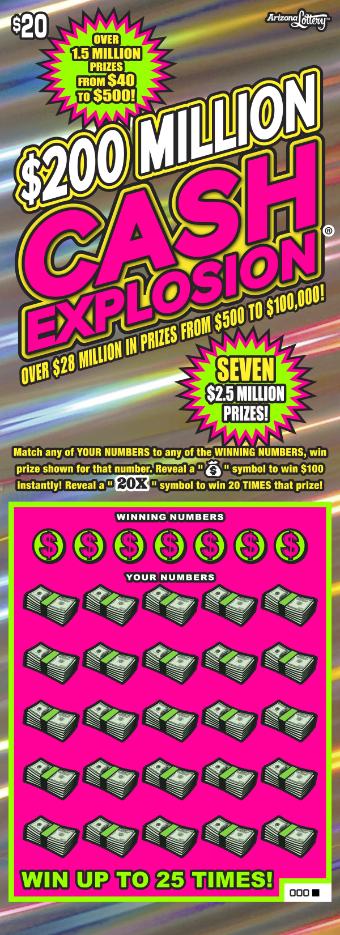 200 Million Cash Explosion 1080 Arizona Lottery