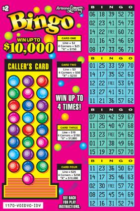 Bingo #1170   Arizona Lottery