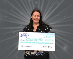 Arizona Lottery Winner Christine Tax