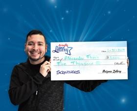 Arizona Lottery Winner Alexander Florez