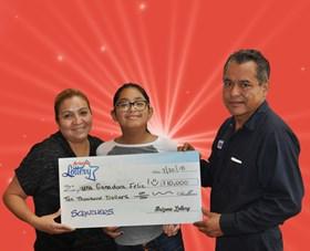 Arizona Lottery Winner Una Ganadora Feliz