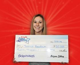 Arizona Lottery Winner Jessica Baudhuin