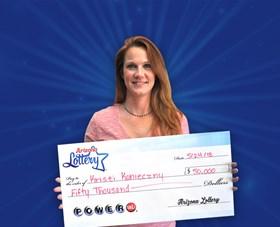 Arizona Lottery Winner Kristi Konieczny