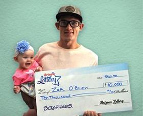 Arizona Lottery Winner Zak O'Brien