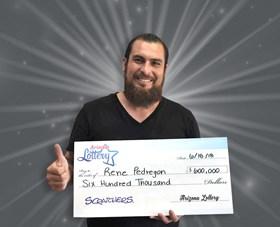 Arizona Lottery Winner Rene Pedregon