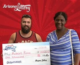 Arizona Lottery Winner Robert Rose