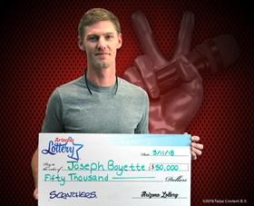 Arizona Lottery Winner Joseph Boyette