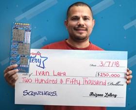 Arizona Lottery Winner Ivan Lara