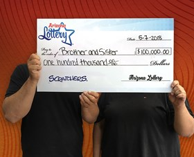 Arizona Lottery Winner Brother and Sister