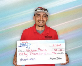 Arizona Lottery Winner Victor Parra