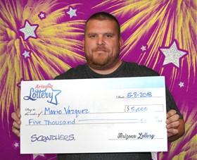 Arizona Lottery Winner Mario Vazquez