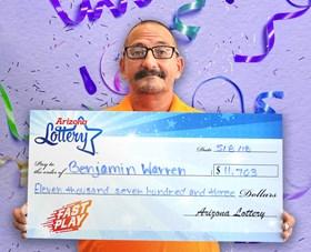 Arizona Lottery Winner Benjamin Warren