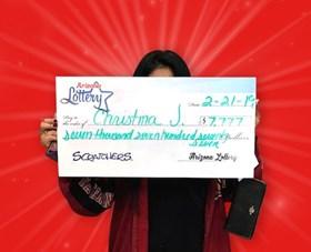 Arizona Lottery Winner Christina J.