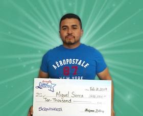 Arizona Lottery Winner Miguel Sierra