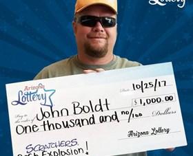 Arizona Lottery Winner John Boldt