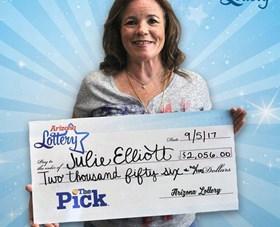 Arizona Lottery Winner Julie Elliott