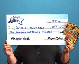 Arizona Lottery Winner Checky McCheck Face