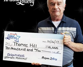 Arizona Lottery Winner Thomas Hill