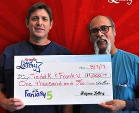 Arizona Lottery Winner Todd K & Frank V