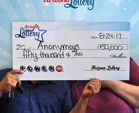 Arizona Lottery Winner Anonymous