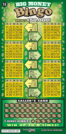 Big Money Bingo #1215 | Arizona Lottery