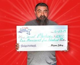 Arizona Lottery Winner Jared Martinez