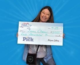 Arizona Lottery Winner Lena Charon