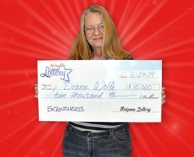 Arizona Lottery Winner Diana Wolfe