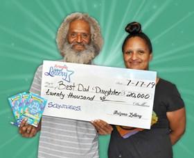 Arizona Lottery Winner Best Dad & Daughter