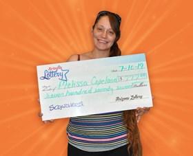 Arizona Lottery Winner Melissa Copeland