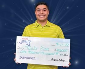 Arizona Lottery Winner Taylor Sims