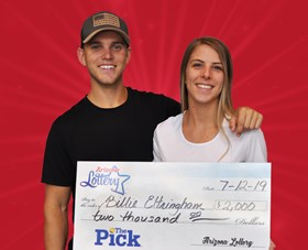 Arizona Lottery Winner Billie Eltringham