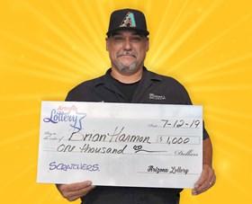 Arizona Lottery Winner Brian Harmon