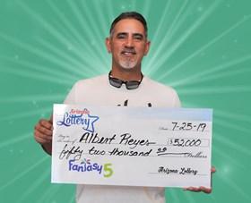 Arizona Lottery Winner Albert Reyes