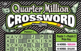 Quarter Million Crossword Logo