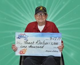 Arizona Lottery Winner Frank Klobier