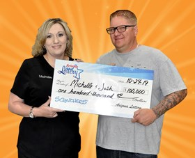Arizona Lottery Winner Michelle & Josh