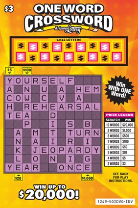 One Word Crossword 1249 Arizona Lottery