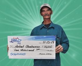 Arizona Lottery Winner Herbert Abrahamson