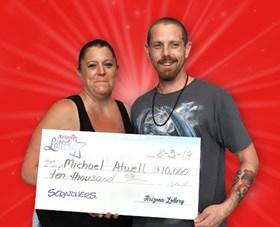 Arizona Lottery Winner Michael Atwell