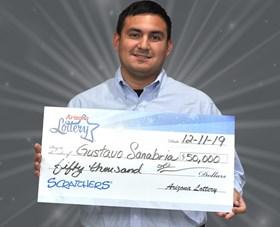 Arizona Lottery Winner Gustavo Sanabria