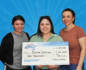 Arizona Lottery Winner Cierra Cortina
