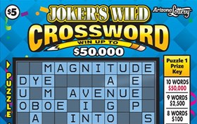 Joker's Wild Crossword Logo